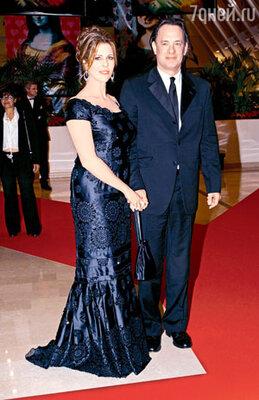 С женой Ритой Уилсон на Каннском кинофестивале