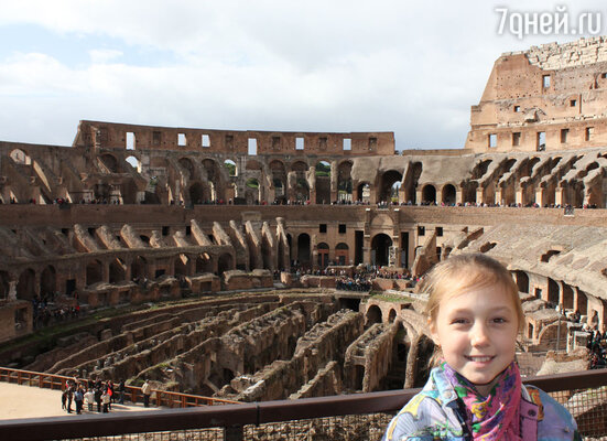 Место боев римских гладиаторов произвело на Катю самое большое впечатление.