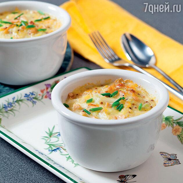 Капустное суфле с сыром, орехами и горчицей