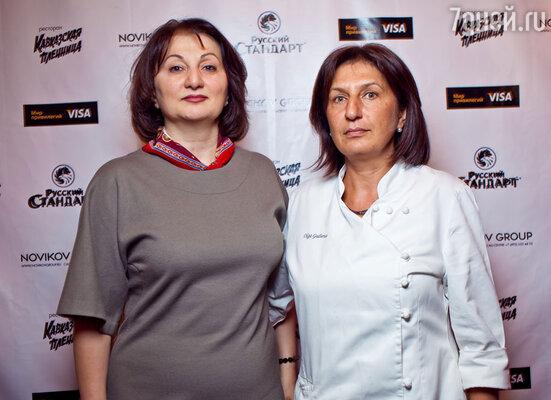 Арда Тужба, первый шеф-повар «Кавказской пленницы», и Ольга Гулиева, нынешний шеф-повар
