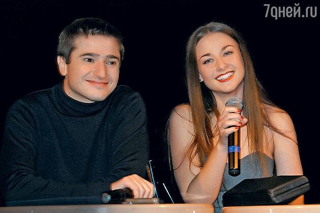 Иван Стебунов и Ингрид Олеринская на премьере фильма «Билет на VEGAS». 2013 г.