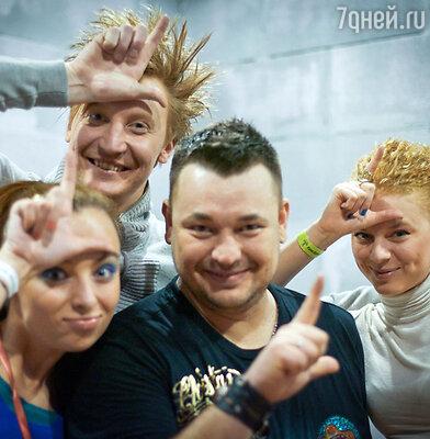 Супруга «Гены» (слева), «Гена» и Сергей Жуков (в центре)