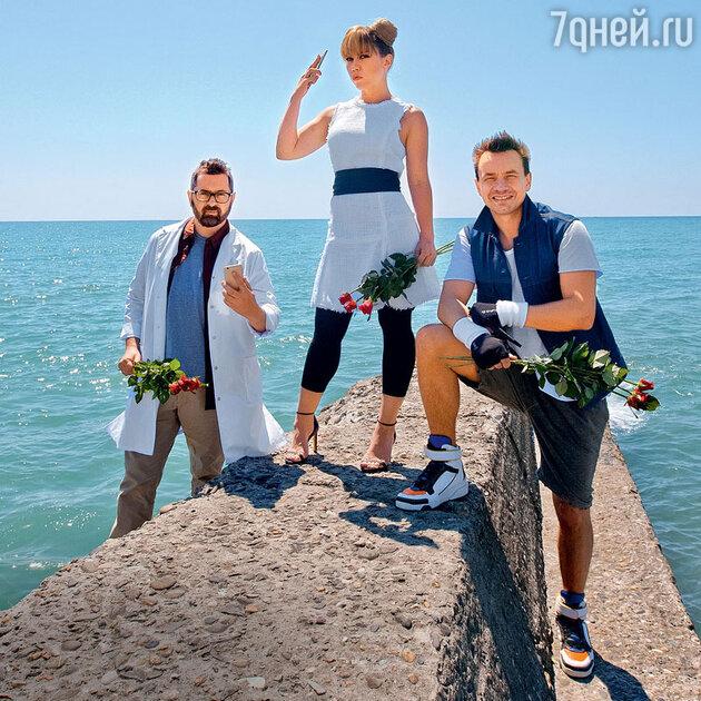 Солисты группы Алексей Рыжов, Анна Хохлова и Алексей Серов