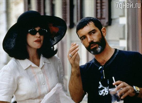 Антонио Бандерас и Мелани Гриффит на съемках фильма «Сумасшедшие в Алабаме»
