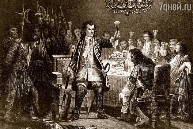 Петр Великий обезглавливает стрельцов в присутствии своего дворянства в 1693 году