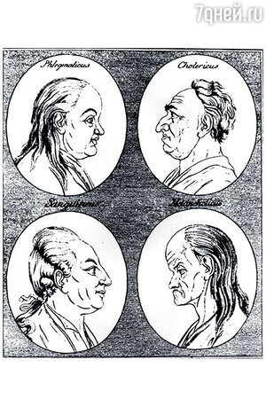 Профили из трактата Лафатера «Сто правил физиогномики»