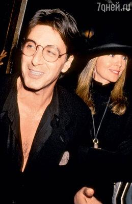 Роман Пачино с Дайен Китон длился без малого 16 лет. Нью-Йорк, 1989 г.
