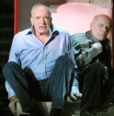 Валентин Гафт и Александр Филиппенко в спектакле «Сон Гафта, пересказанный Виктюком»
