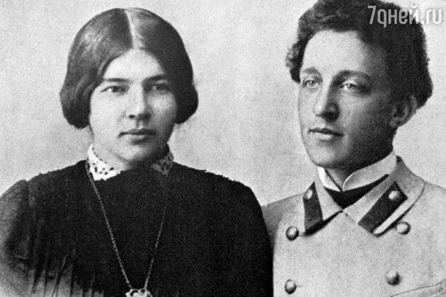 Люба Менделеева и Александр Блок. 1900 г.