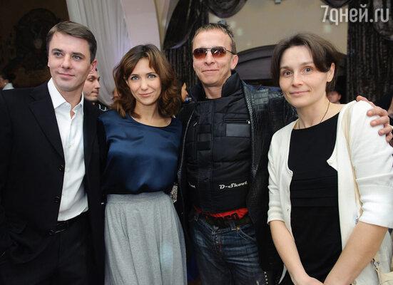 Игорь Петренко с супругой Екатериной Климовой, Иван Охлобыстин с супругой Оксаной