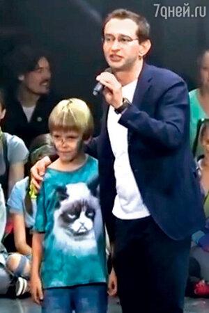 Константин Хабенский с сыном