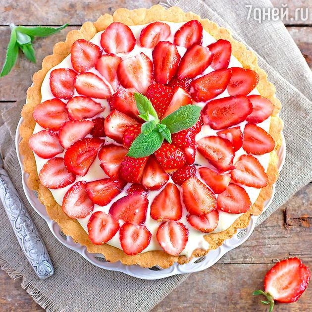Десерт со свежими ягодами и фруктами