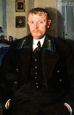 Борис Серебряков, муж Зинаиды, был ее двоюродным братом. Фото репродукции картины «Портрет Б.А. Серебрякова», 1913 год