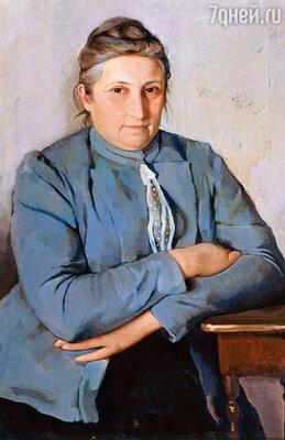 Екатерина Николаевна, мать Зинаиды, была рядом с дочерью до самого отъезда Серебряковой в Париж. Фото репродукции портрета Е.Н. Лансере, матери художницы, 1912 год