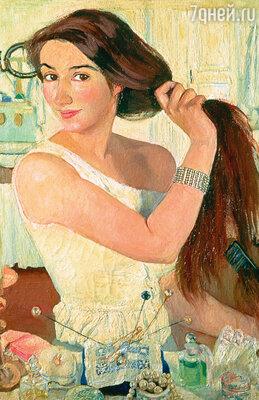 «Ты не пиши, что это автопортрет. Назови просто «У зеркала», — посоветовал Борис, когда они вместе думали над названием картины. Фото репродукции картины «За туалетом. Автопортрет», 1909 год