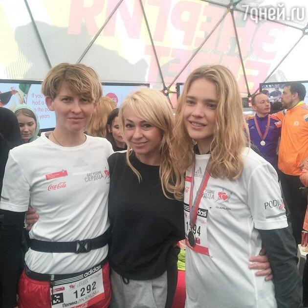 Полина Киценко, Яна Рудковская и Наталья Водянова