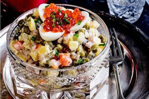 Оливье с копченой скумбрией: рецепт холодной закуски