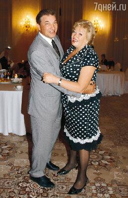 Владислав Третьяк с женой Татьяной