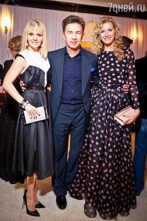 Валерий Сюткин с женой Виолой и Валерия на праздновании дня рождения Иосифа Пригожина