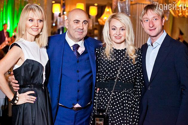 Иосиф Пригожин, Валерия, Яна Рудковская и Евгений Плющенко на праздновании дня рождения Иосифа Пригожина