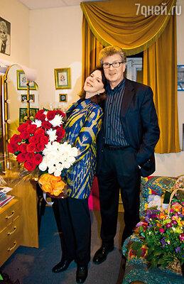 Игорь Костолевский с женой Консуэло де Авиланд