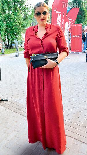 Ирина Дубцова на фестивале «Новая волна». Юрмала, 2013 г.