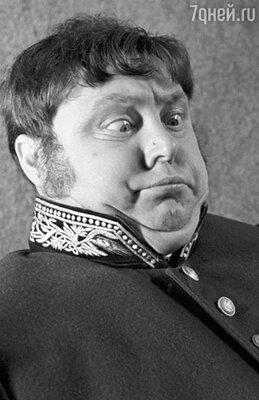 Особенно хорош Невинный был в комическом, гротескном амплуа. (В роли Земляники в фильме Леонида Гайдая «Инкогнито из Петербурга»)