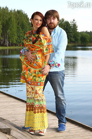 Эвелина Блёданс с мужем Александром Семиным