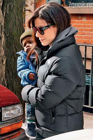 Сандра Буллок с сыном Луи Буллоком