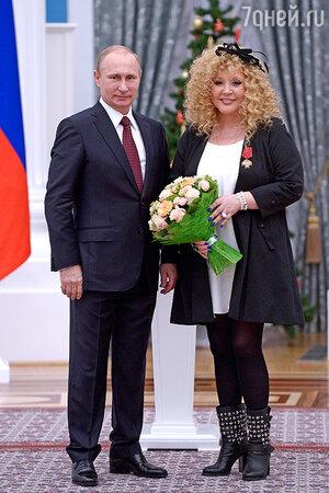 Владимир Путин вручил Алле Пугачевой государственную награду