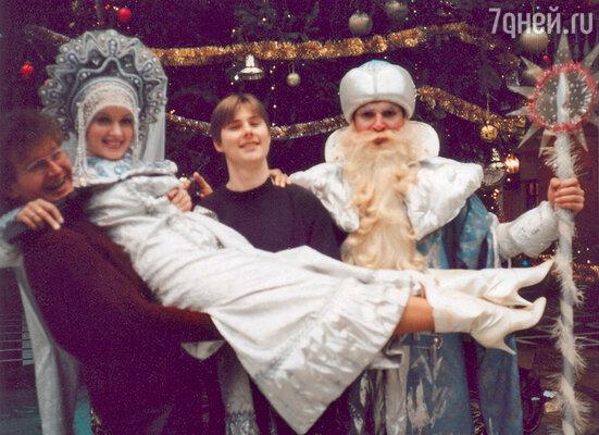 Мария Порошина в роли Снегурочки. Новогоднее представление в Музее имени Пушкина. 1989 г.
