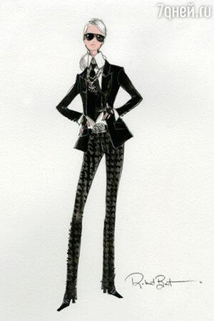 Карл Лагерфельд для Barbie. 2014 г.