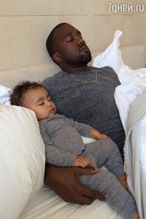 Канье Вест с дочерью