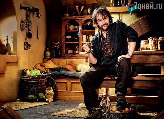 Питер Джексон в Новой Зеландии на съемках трилогии «Хоббит»