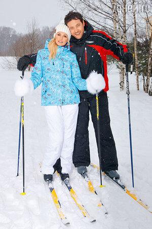 Лыжное семейство: Саша Савельева и Кирилл Сафонов