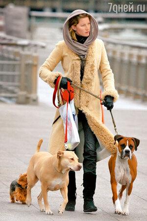 Удобная одежда для прогулки с собаками. Жизель Бундхен