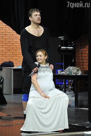 Ирина Пегова на репетиции