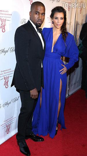 Ким Кардашьян (Kim Kardashian) и Канье Уэст (Kanye West). 2012 год