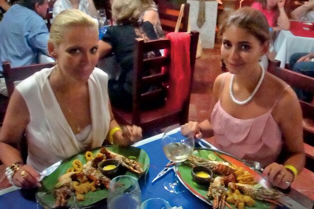 Алена Яковлева с дочерью Марией на отдыхе в Доминикане