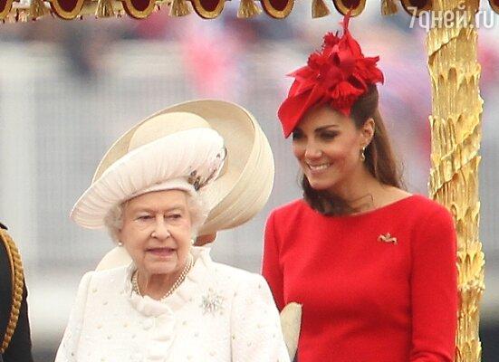 Королева Елизавета и герцогиня Кэтрин