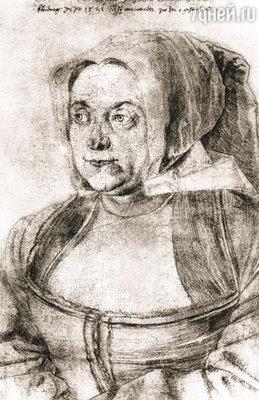Агнес знала, что может умереть спокойно: она сделала для своего покойного супруга то, что так и не смогла сделать при его жизни. («Агнес Дюрер», рисунок А. Дюрера, 1521 г.)