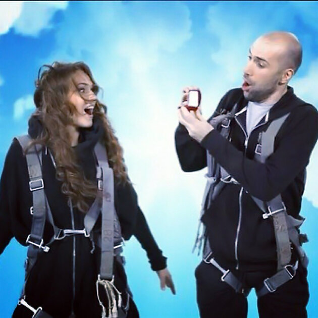 Алена Водонаева и Евгений Папунаишвили в программе «Танцы со звездами»