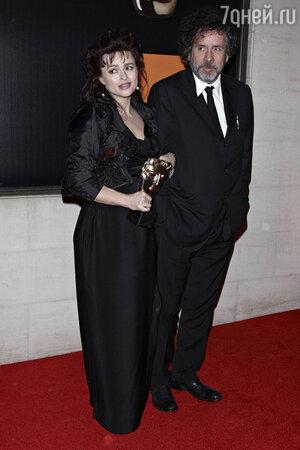 Хелена Бонем-картер и Тим Бертон BAFTA. Лондон. 2012 год