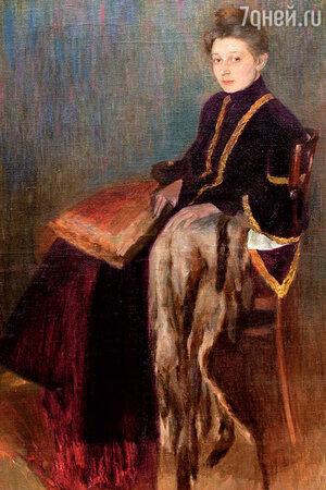 Фото репродукции картины Л. Бакста «Дама в кресле»