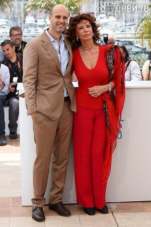 Софи Лорен с сыном Эдуардо Понти
