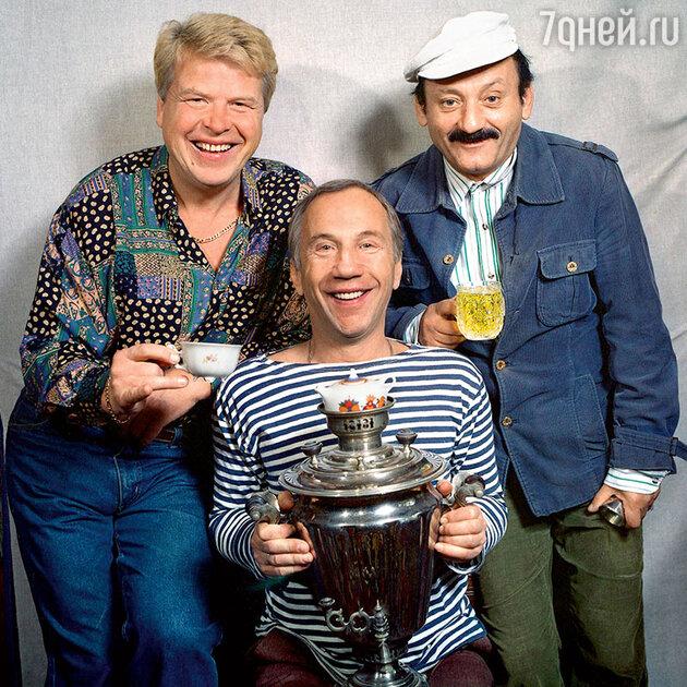 Савелий Краморов с Михаилом Кокшеновым и Семеном Фарадой
