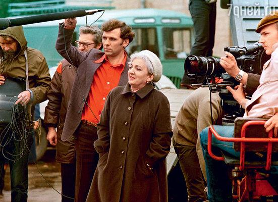 Режиссер Татьяна Лиознова насъемках фильма «Карнавал». 1981 г.