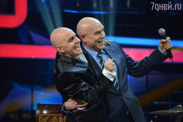 Тимур Родригез и Сергей Мазаев на шоу «Один в один»