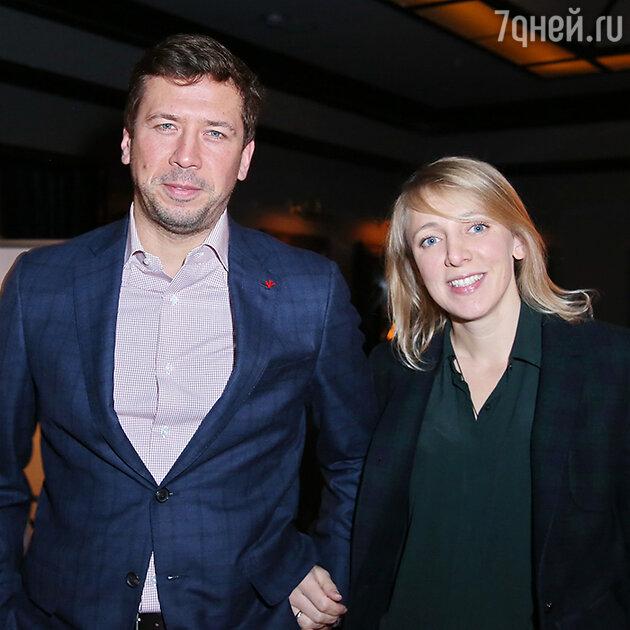 Андрей Мерзликин с женой Анной