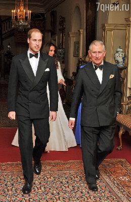 Принц Уильям, принц Чарльз, Кейт Миддлтон и Камилла Паркер-Боулз